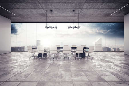 Photo pour The meeting room in a luxury building - image libre de droit