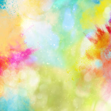 Photo pour Background of explosion of shiny colored powders - image libre de droit
