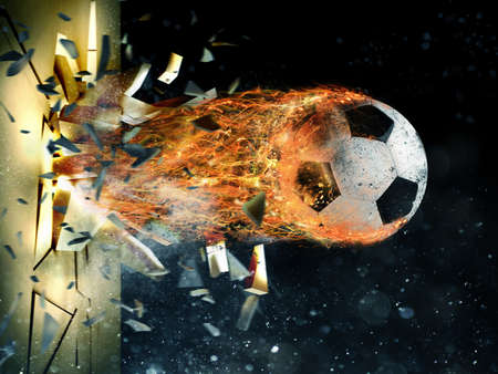 Photo pour Soccer fireball power - image libre de droit