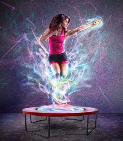 Foto per Power jump fitness - Immagine Royalty Free