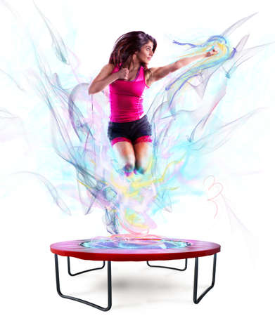 Photo for Power jump fitness - Royalty Free Image