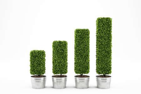 Foto de Growing the economy. 3D Rendering - Imagen libre de derechos