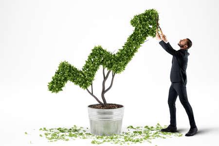 Foto de Growing the economy company . 3D Rendering - Imagen libre de derechos