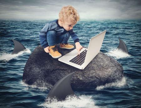 Photo pour Difficulty Internet concept - image libre de droit