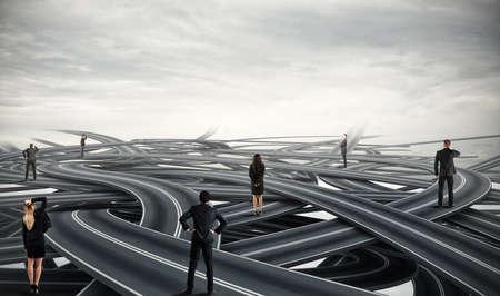 Photo pour Choices of a businesspeople and difficult career concept - image libre de droit