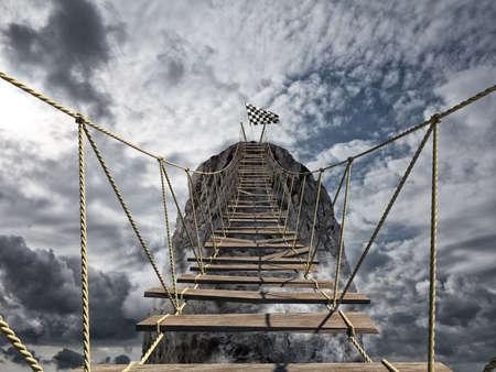 Foto de Reach the success with difficult. Achievement business goal and Difficult career concept - Imagen libre de derechos