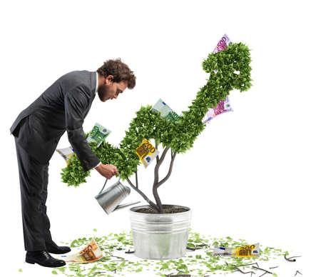 Photo pour Growing the economy - image libre de droit