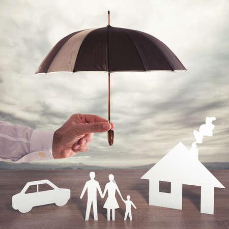 Foto de Protect  your family - Imagen libre de derechos