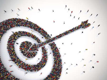 Photo pour Target people. 3D Rendering - image libre de droit