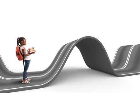 Photo pour Difficult way . 3D Rendering - image libre de droit