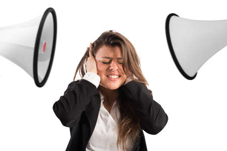 Photo for Stress concept with screaming colleagues - Royalty Free Image