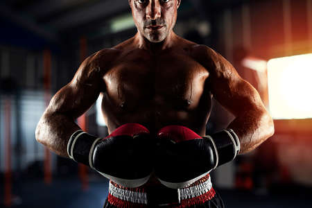 Photo for Boxer ready to fight at the gym - Royalty Free Image