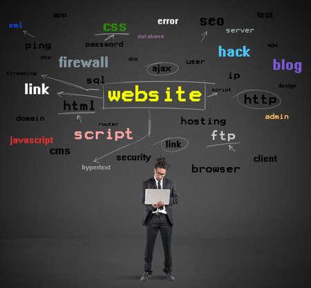 Photo pour Learn how to make websites - image libre de droit