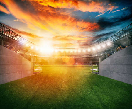 Photo for Ready to enter the field for the game - Royalty Free Image