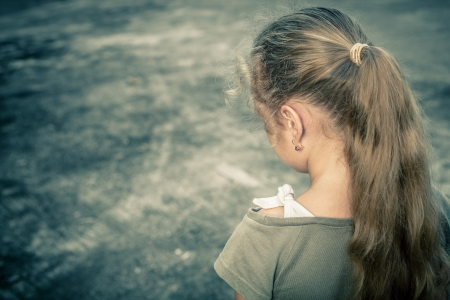 Photo for Portrait of a sad child - Royalty Free Image