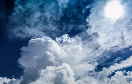 Photo for Blue sky with plain white cloud - Royalty Free Image