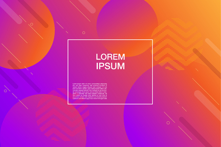 Illustration pour Colorful geometric background for web page. Simple shapes composition. Eps10 vector. - image libre de droit