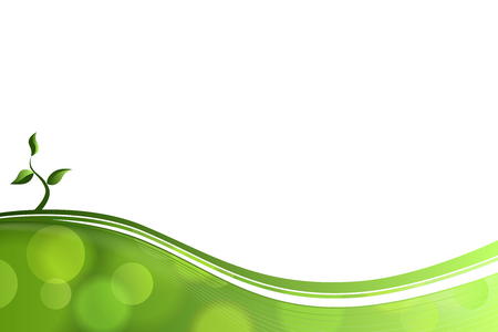 Illustration pour Abstract background green lines eco sprout vector - image libre de droit