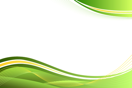 Illustration pour Green yellow abstract background lines waves - image libre de droit