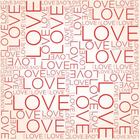 Illustration pour Love word collage - image libre de droit