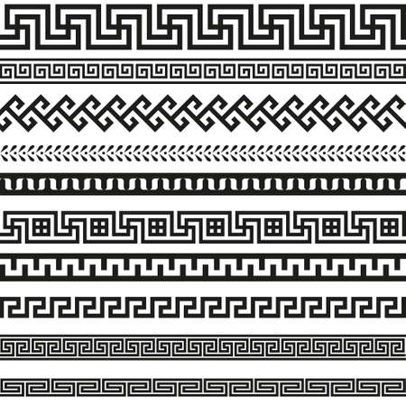 Illustration for Old greek border designs - Royalty Free Image