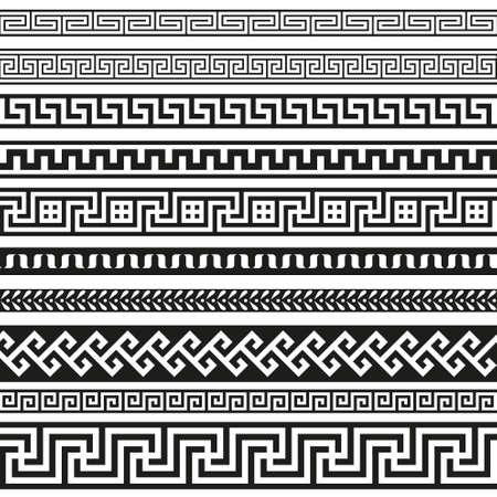Illustration pour Old greek border designs - image libre de droit