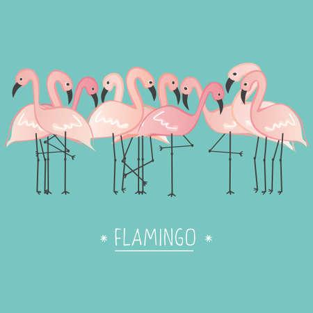 Ilustración de Vector illustration pink flamingo - Imagen libre de derechos