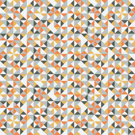 Ilustración de Colorful retro hipsters triangle pattern illustration - Imagen libre de derechos