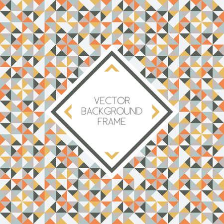 Ilustración de Background of geometric shapes pattern with frame - Imagen libre de derechos