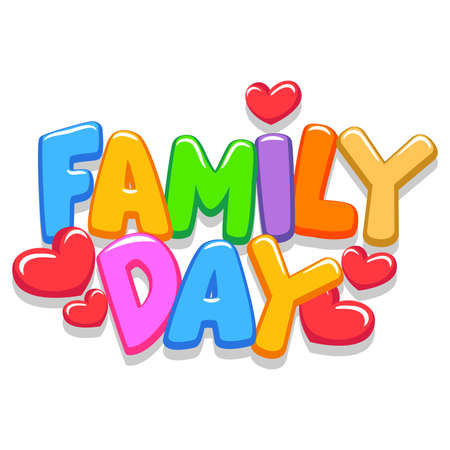 Illustrazione per Vector Illustration of Family Day 3d Letters - Immagini Royalty Free