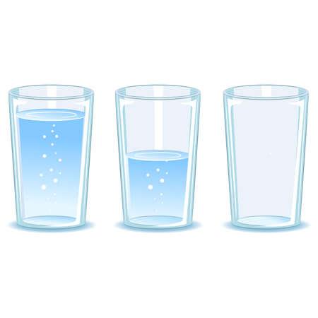 Ilustración de Vector Illustration of Set Glass of water - Imagen libre de derechos