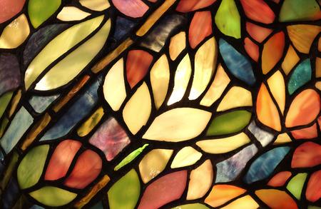 Foto de Glass art with backlit pattern in vibrant colors - Imagen libre de derechos