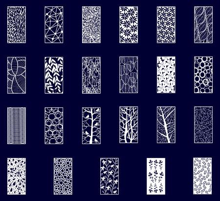 Ilustración de Big Set of Decorative laser cut panels . Vector Illustration. - Imagen libre de derechos