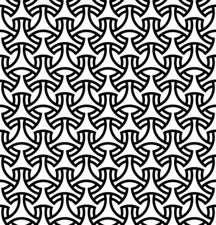 Illustration pour Seamless pattern in black lines.Based on arabic geometric patterns. - image libre de droit