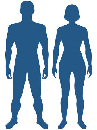 Photo pour Illustration of the silhouette human body. Man and woman - image libre de droit