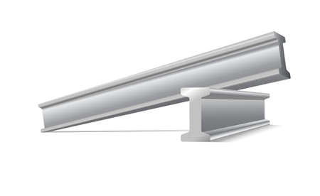 Illustration pour metal construction beams vector isolated on white - image libre de droit