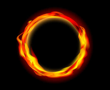 Illustration for fire ring vector - Royalty Free Image
