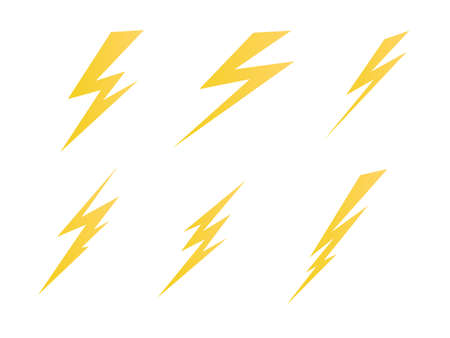 Illustration for lighting, electric charge icon vector symbol illustration - Royalty Free Image
