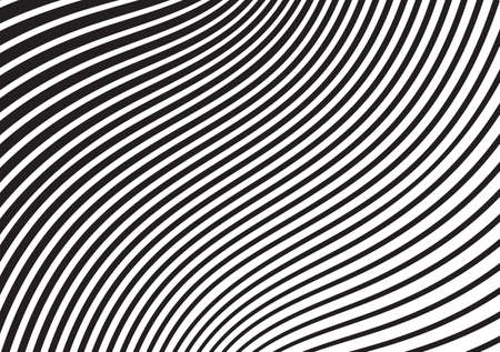 Ilustración de black and white mobious wave stripe optical design opart - Imagen libre de derechos