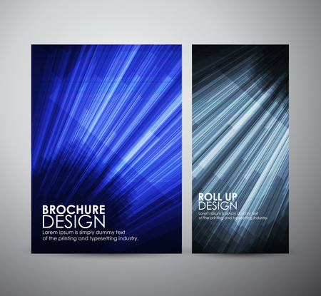 Ilustración de brochure business design template or roll up with geometric elements. Vector illustration - Imagen libre de derechos