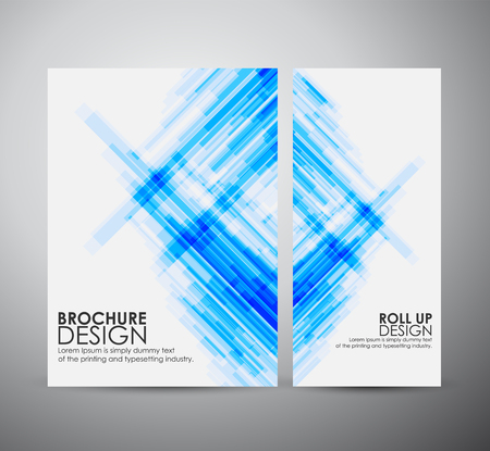 Photo for Abstract brochure business design template or roll up. Vector illustration - Royalty Free Image