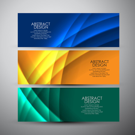 Illustration pour Vector banners set with curves background. - image libre de droit