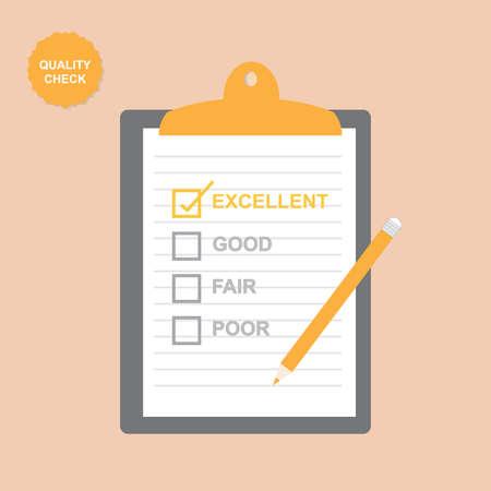 Illustration pour Quality Checklist - image libre de droit
