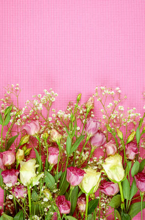 Foto für Floral background with copy and negative space for feminine holiday, birthday, or Mothers Day celebration. - Lizenzfreies Bild
