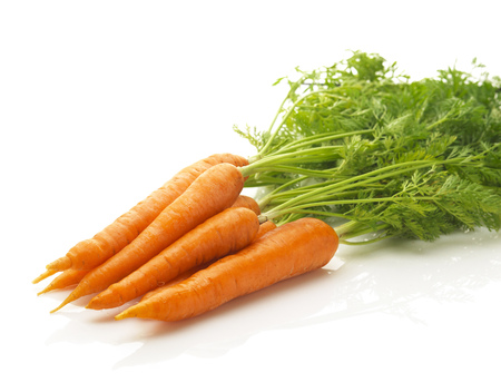 Photo pour a bunch of fresh carrots isolated on a white background - image libre de droit