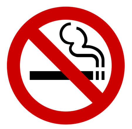 Illustration pour no smoking sign - vector illustration - image libre de droit