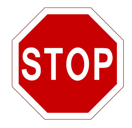 Illustration pour STOP. Red octagonal stop sign for prohibited activities. Vector illustration - you can simply change color and size - image libre de droit