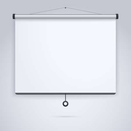 Ilustración de Empty Projection screen, Presentation board, blank whiteboard for conference - Imagen libre de derechos