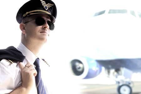 Photo pour Pilot - Captain aitliners plane - image libre de droit