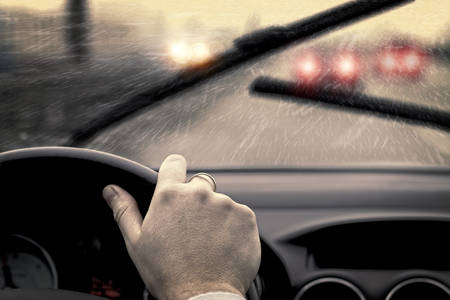 Photo for Rainy day in car  - Royalty Free Image